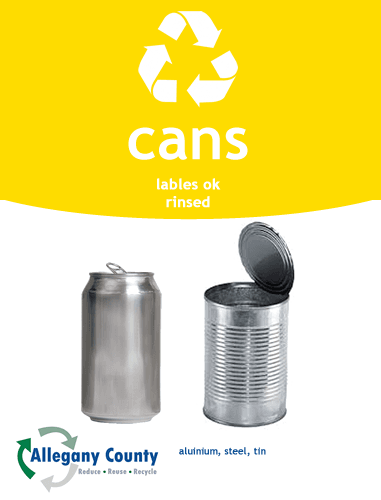 Cans Recycling Sign