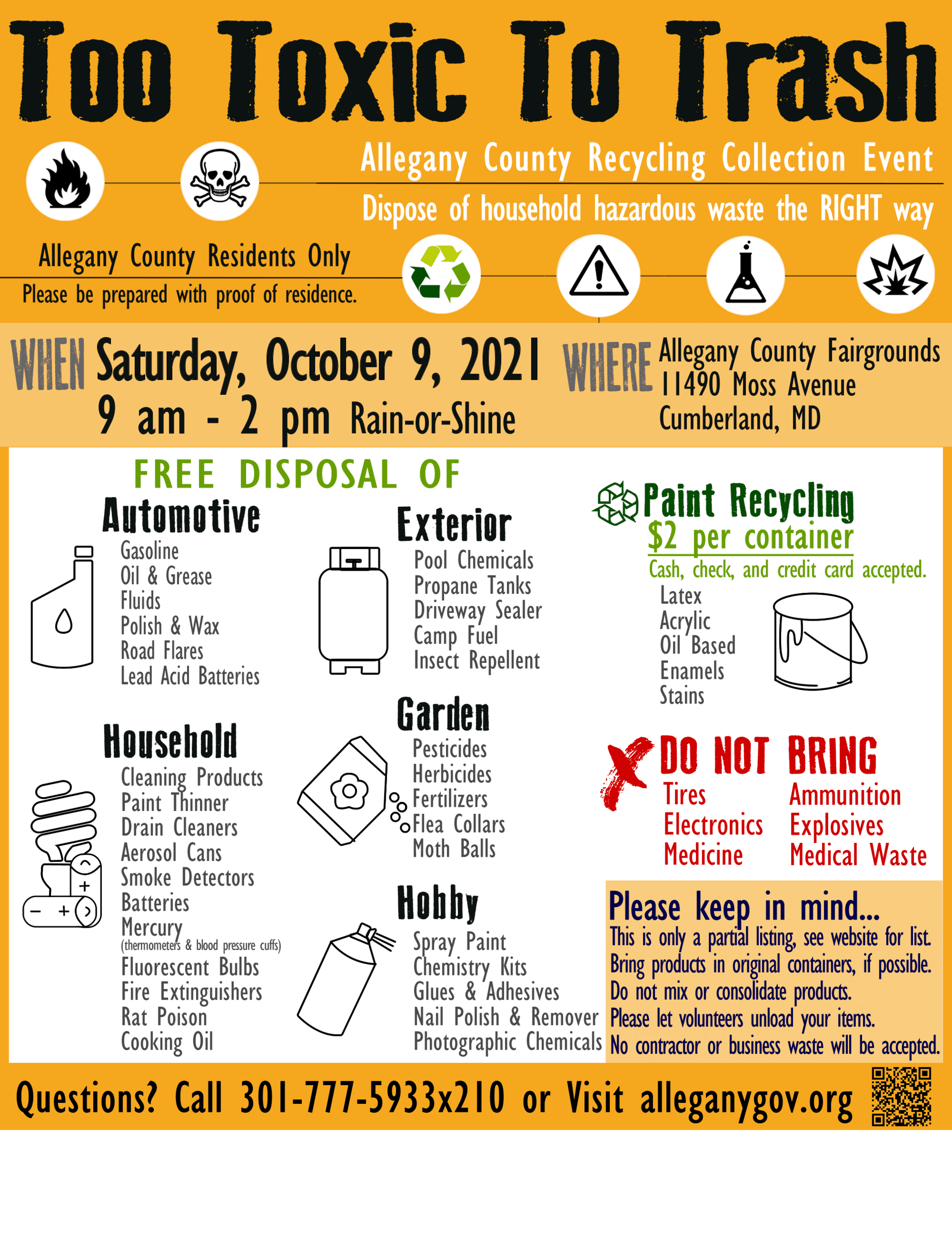 Too Toxic To Trash 2019 Event October